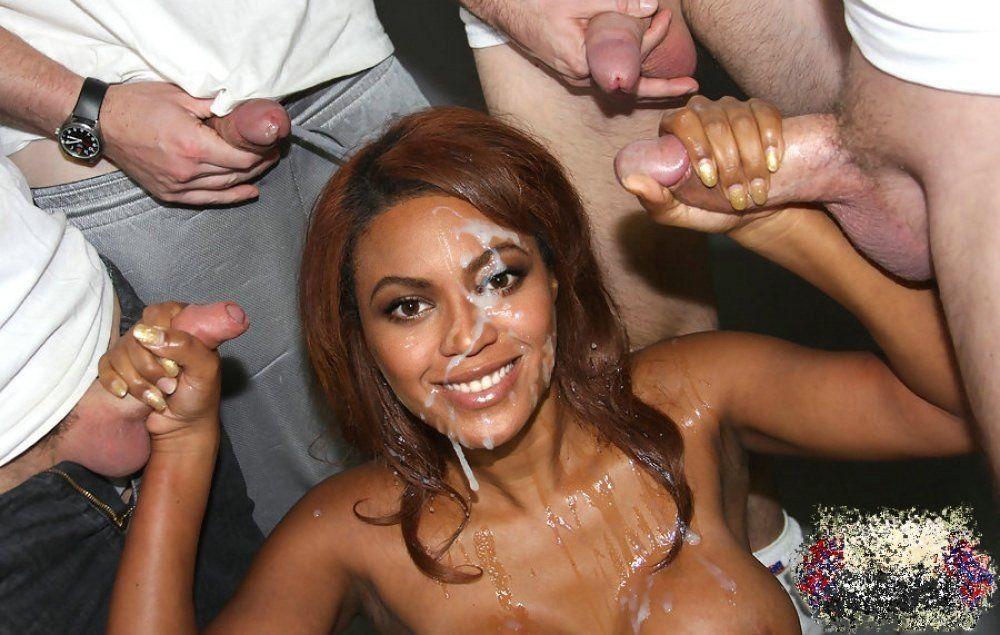 Beyonce nude facial cumshot