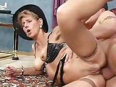 Ball sucking cum announcement housewife POV