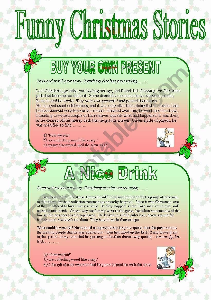 Funny christmas writings