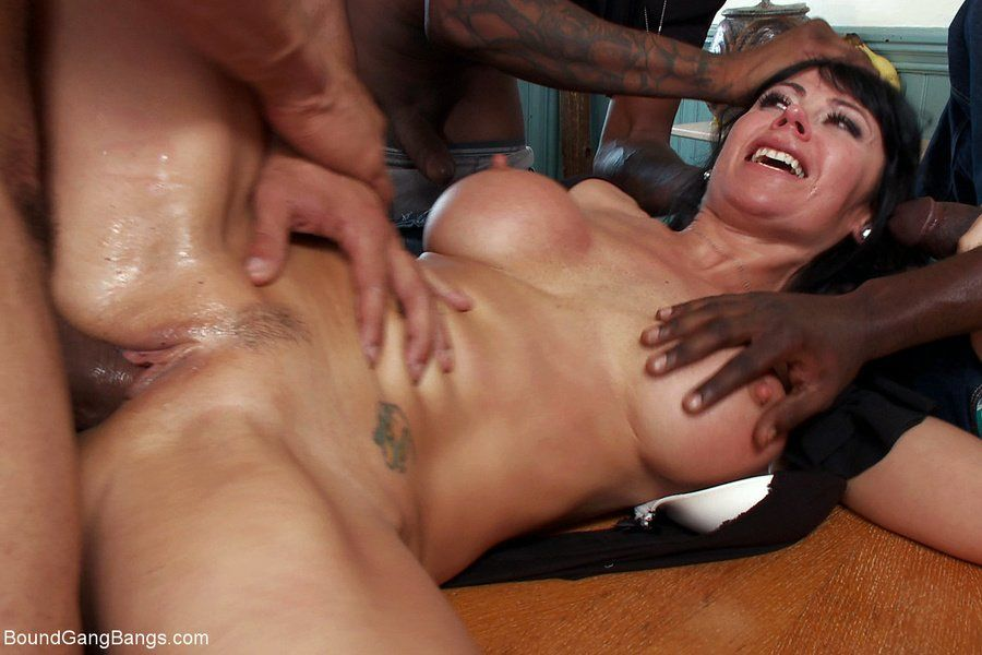 Free mom interracial gangbang