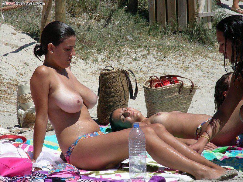 Beach tits big Big tits
