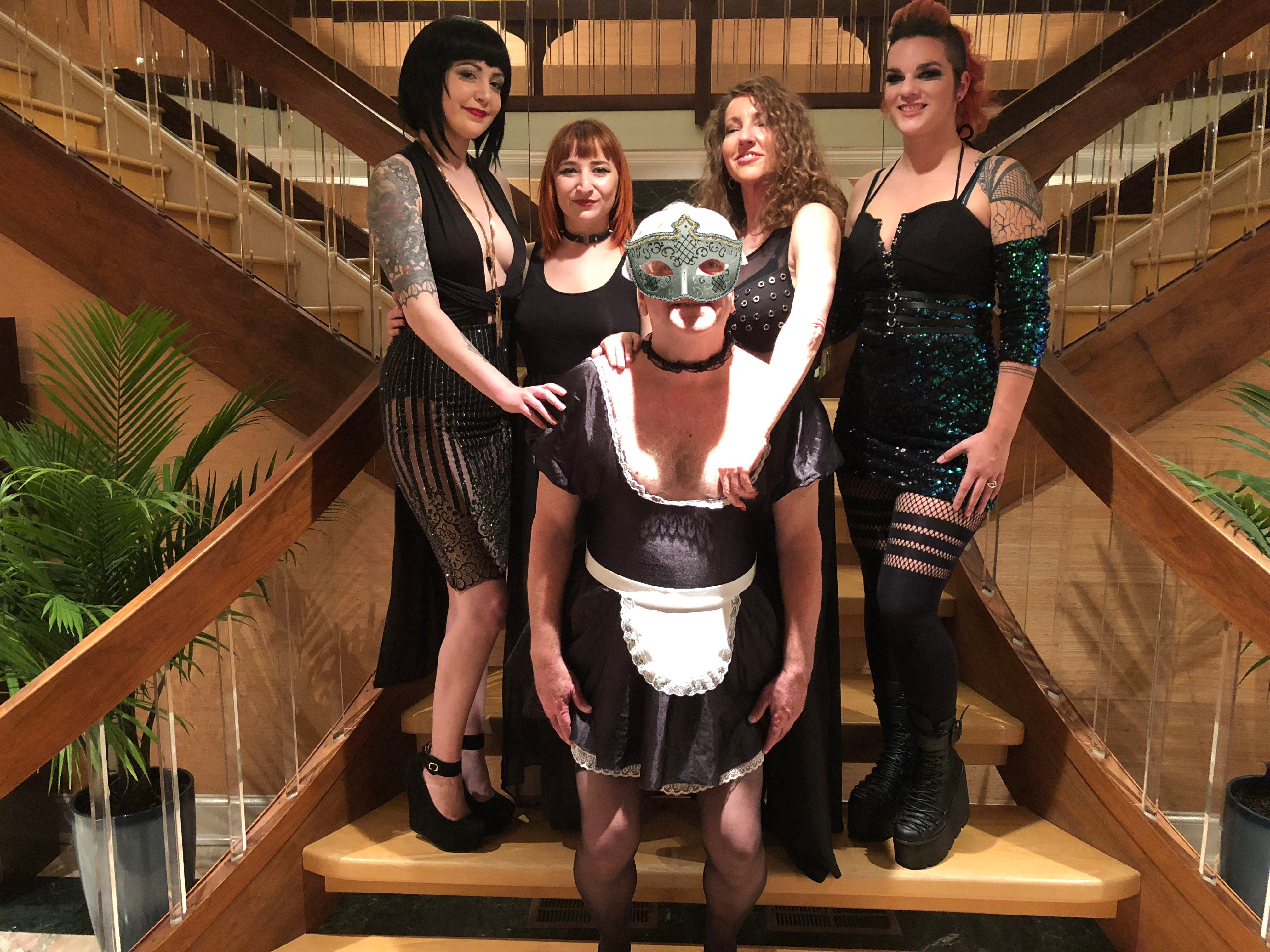 Harness femdom party cock opinion you