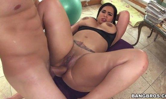 big tit milf bathroom fuck