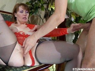 Russian Mom Stockings Sex