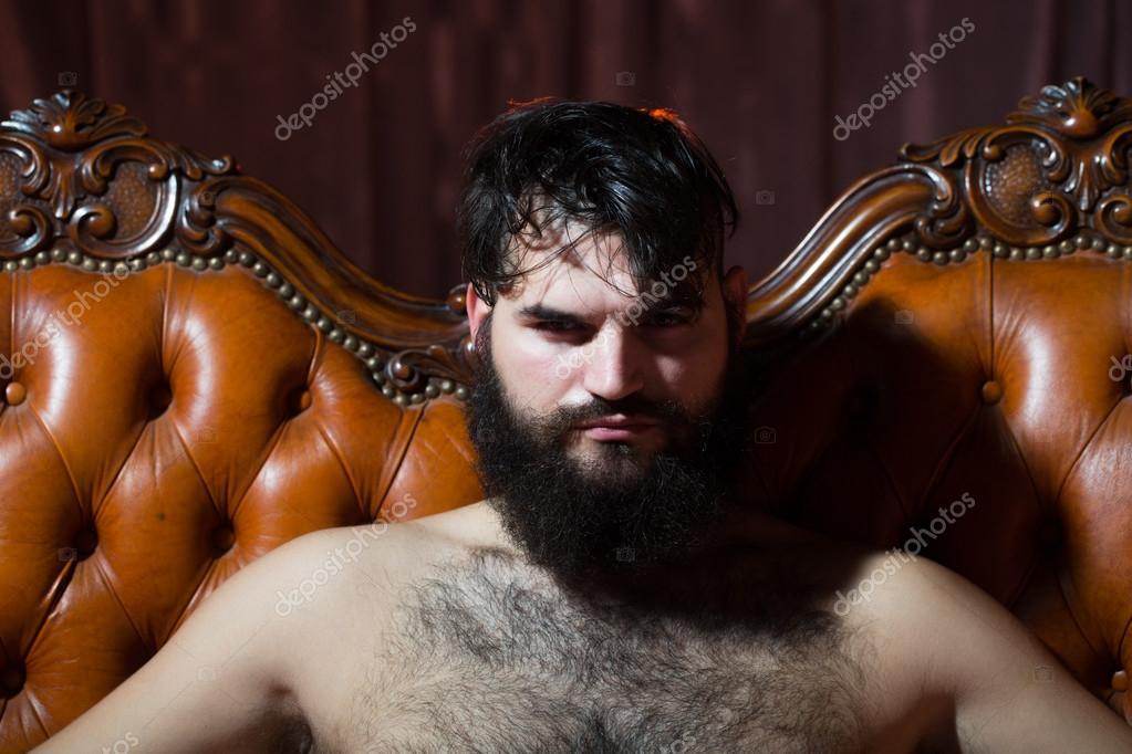 Naked men with facial hair