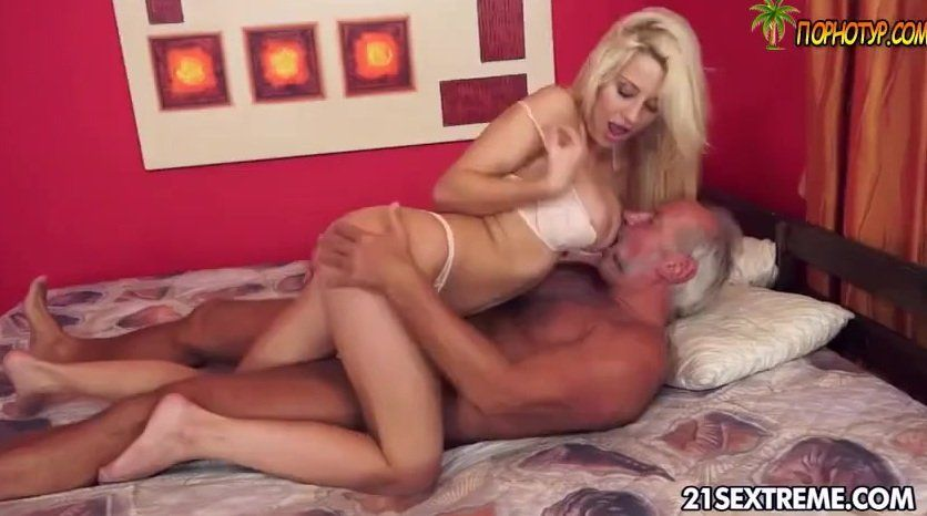 Old man seduces young woman