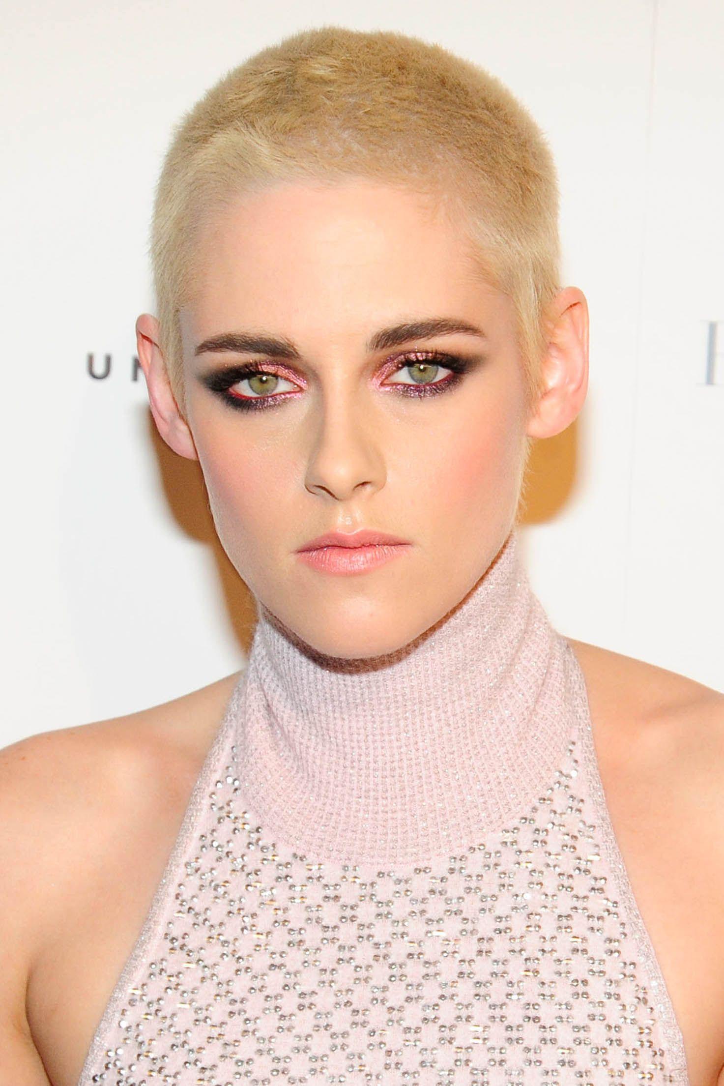 Women shaved head nude
