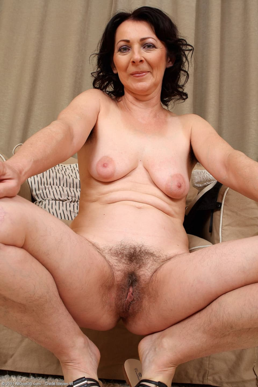Hairy mature naked women