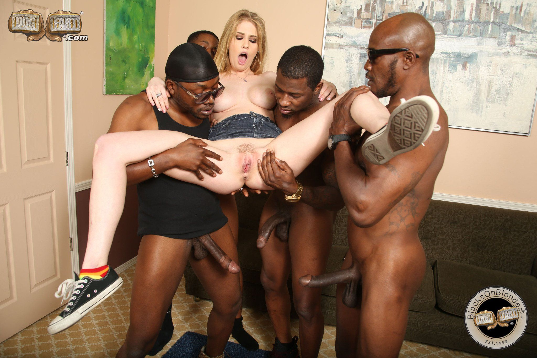 Allie James Nude interracial gangbang with allie james - photos and other