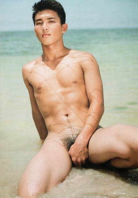 Naked asian male