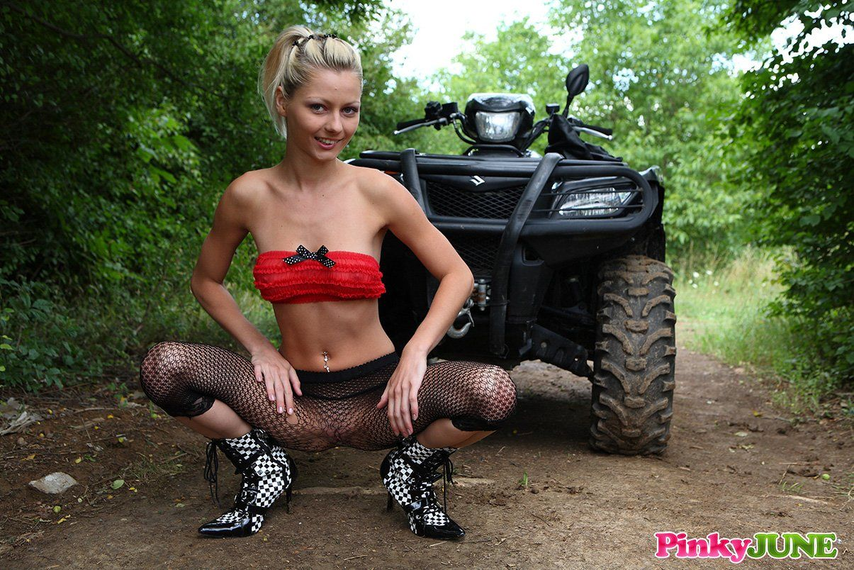 Can naked girl on atv hot possible