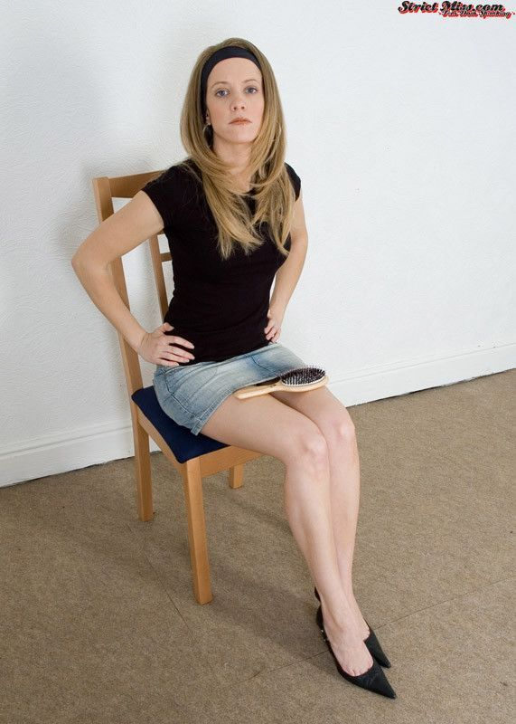 Over knee spanked her Over her